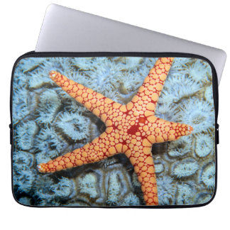 Starfish On A Coral With Polips Computer Sleeve