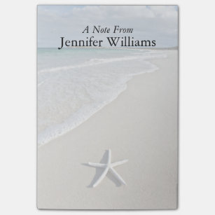 Beach post it notes zazzle starfish on a remote beach post it notes m4hsunfo