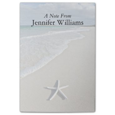 Beach Themed Starfish On A Remote Beach Post-it Notes