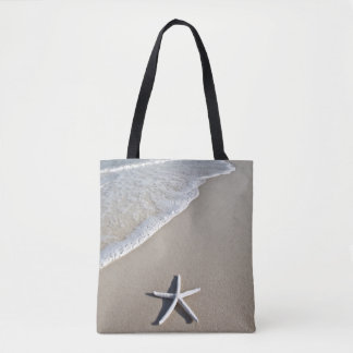 Starfish On A Remote Beach Tote Bag