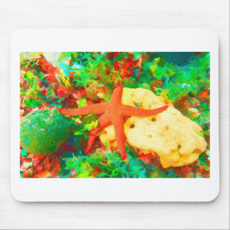 Starfish on a Sponge Mouse Pad