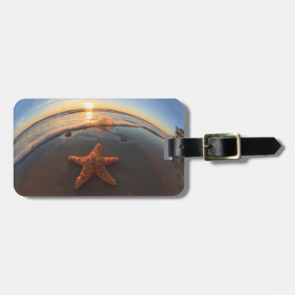 Starfish on Beach at Sunset Tag For Luggage