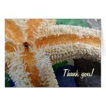Starfish on Beach Glass Thank you card