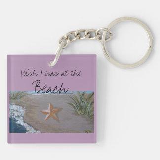 Starfish on Beach Keychain