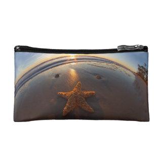 Starfish on Beach Makeup Bag