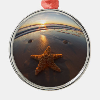 Starfish on Beach Christmas Ornaments