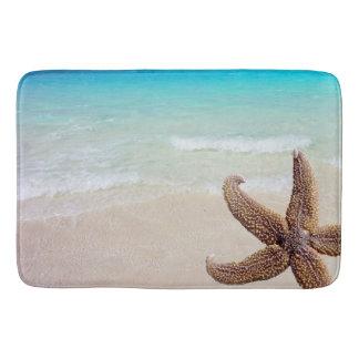 Starfish on Beach Seashore Image Bathroom Mat