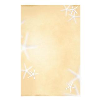 Starfish on Brown Writing Paper