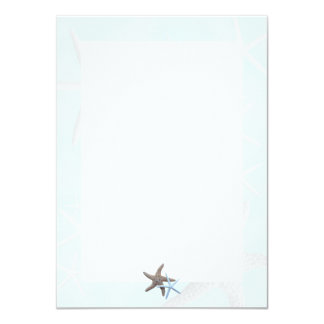 Starfish on Light Blue, Lined Blank Note Cards Custom Invite