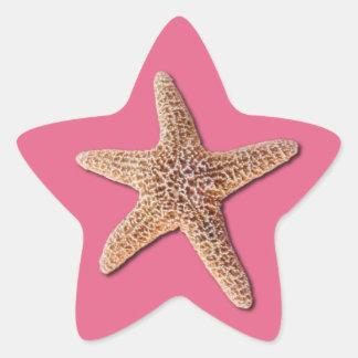 Starfish on pantone Honeysuckle 2011 Star Sticker