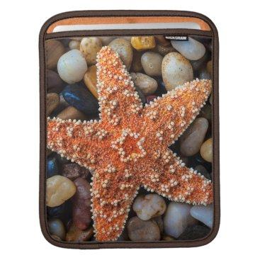 USA Themed Starfish On Rocks iPad Sleeve