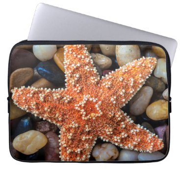 USA Themed Starfish On Rocks Laptop Sleeve