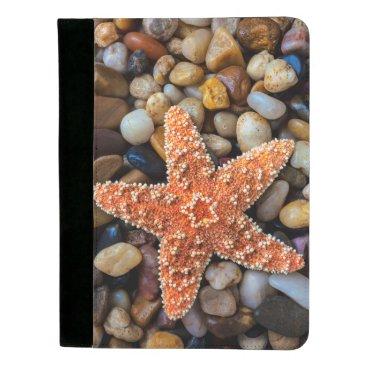 USA Themed Starfish On Rocks Padfolio