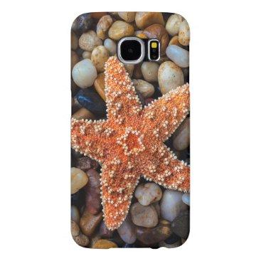 USA Themed Starfish On Rocks Samsung Galaxy S6 Case
