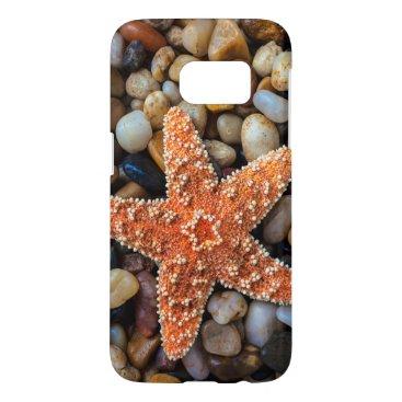 USA Themed Starfish On Rocks Samsung Galaxy S7 Case