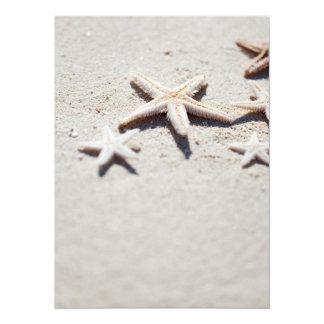 Starfish on sand card