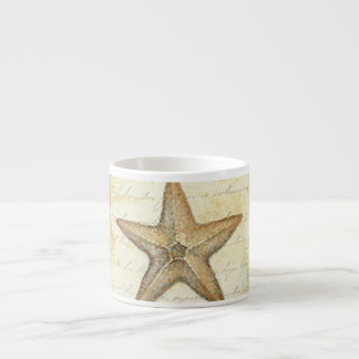 Starfish on Teal Wood Espresso Cup