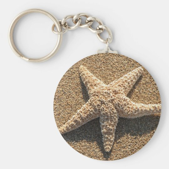 Starfish on the beach keychain