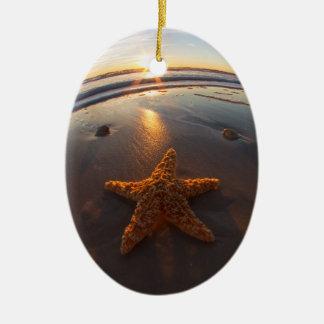 Starfish on the Beach Christmas Ornaments