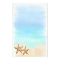 Starfish On The Beach Stationery at Zazzle
