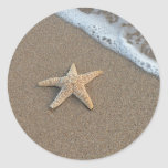 Starfish on the beach sticker