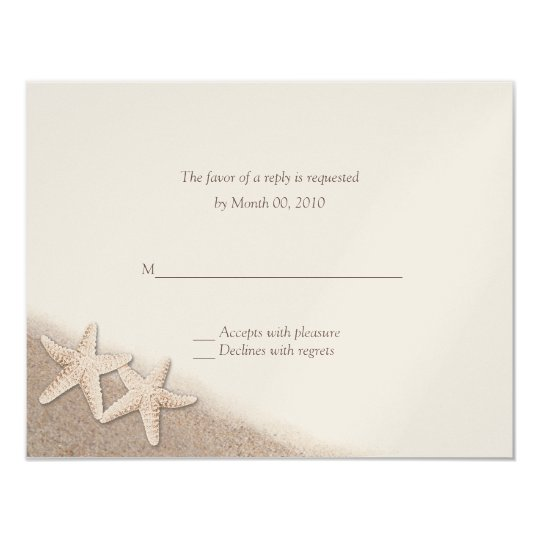 Starfish on the Beach Wedding RSVP Cards