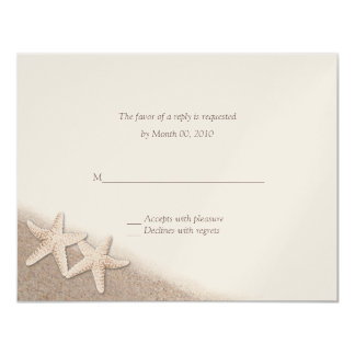 Starfish on the Beach Wedding RSVP Cards