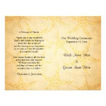 Starfish on Vintage Style Pattern, Wedding Flyer