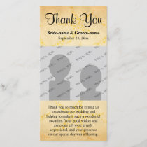 Starfish on Vintage Style Pattern, Wedding Thank You Card