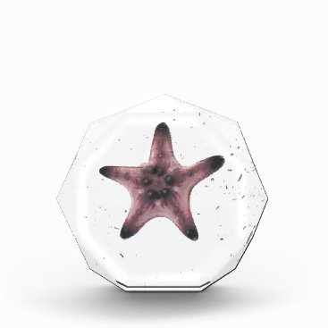 Beach Themed Starfish On White Sand Minimalism Pattern Award