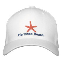 Starfish Orange Personalized Beach Embroidered Baseball Hat