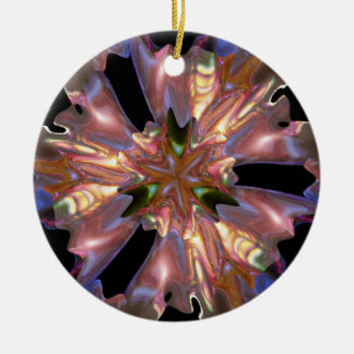 Starfish Double-Sided Ceramic Round Christmas Ornament