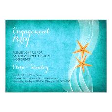 Starfish pair beach wedding engagement party 5