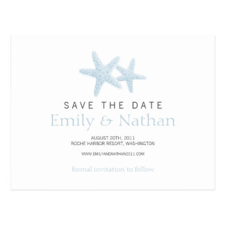 Starfish Pair Save the Date Postcard