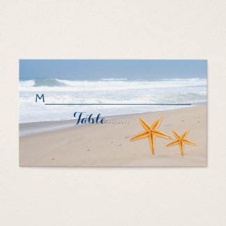 Starfish pair summer beach wedding escort card