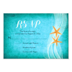 Starfish pair turquoise destination beach wedding 3.5