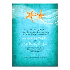 Starfish pair turquoise destination beach wedding 5