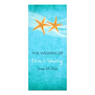 Starfish pair & veil beach wedding program