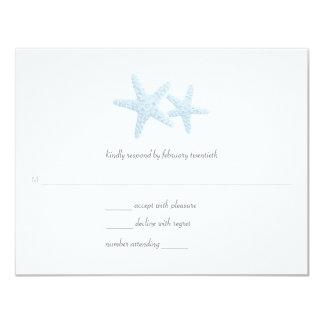 Starfish Pair Wedding Response 4.25x5.5 Paper Invitation Card