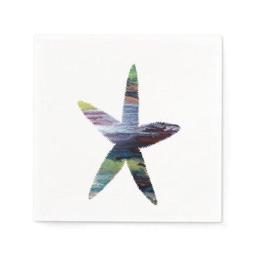 Beach Themed Starfish Paper Napkin
