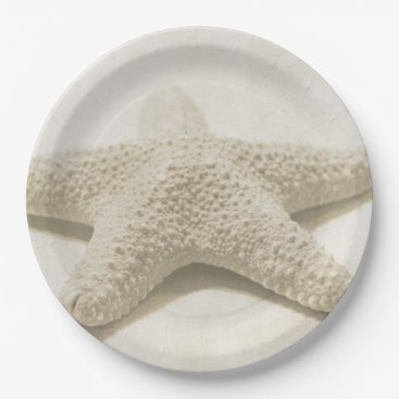 Beach Themed Starfish Paper Plate