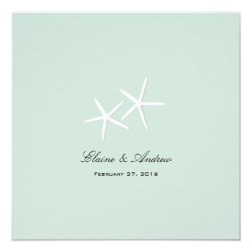 Beach Themed Starfish Passion Custom Beach Wedding Invitations