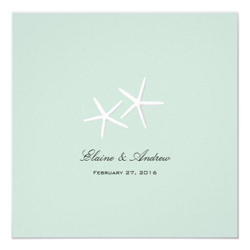 Starfish Passion Custom Beach Wedding Invitations