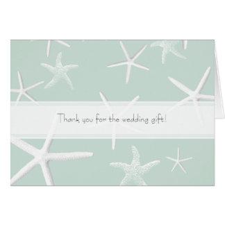 Starfish Passion Custom Wedding Thank You Notes