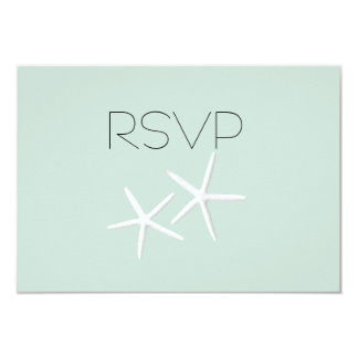 Starfish Passion Wedding Reply Meal SelectionCards Card