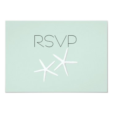 Beach Themed Starfish Passion Wedding Reply Meal SelectionCards Card