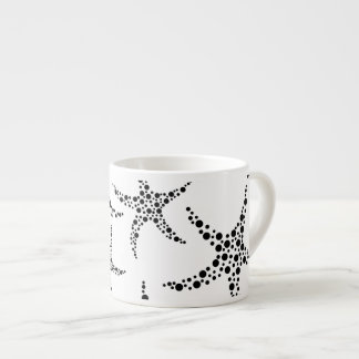 Starfish Pattern in Black and White. Espresso Cup