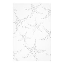 Starfish Pattern in Light Gray and White Flyer