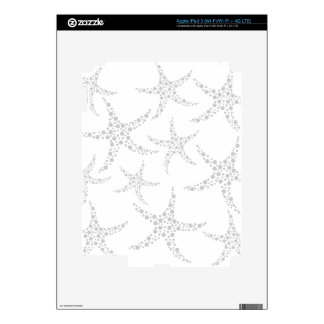 Starfish Pattern in Light Gray and White iPad 3 Decal
