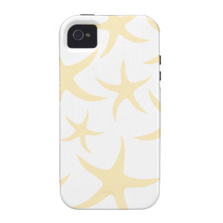 Starfish Pattern in Pastel Yellow and White. iPhone 4 Case